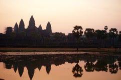 Άποψη ανατολής πέρα από το ναό Angkor Wat Στοκ Εικόνα
