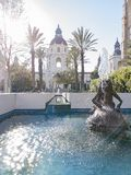 Άποψη απογεύματος του όμορφου Πασαντένα Δημαρχείο στο Λος Άντζελες, Καλιφόρνια στοκ εικόνες
