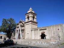 Άποψη αποικιακού του στο κέντρο της πόλης, Arequipa, Περού Στοκ φωτογραφία με δικαίωμα ελεύθερης χρήσης
