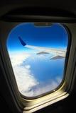 Άποψη από ένα αεροπλάνο Στοκ εικόνα με δικαίωμα ελεύθερης χρήσης