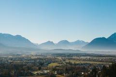 Άποψη από ένα υψηλό σημείο στην ιστορική πόλη του Σάλτζμπουργκ Μια πόλη στη δυτική Αυστρία, η πρωτεύουσα του ομοσπονδιακού κράτου Στοκ Φωτογραφία