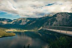 Άποψη από ένα ύψος Hallstatt Στοκ φωτογραφίες με δικαίωμα ελεύθερης χρήσης
