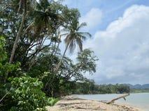 Άποψη από που κολυμπά με αναπνευτήρα το σημείο στο εθνικό πάρκο του Manuel Antonio στοκ εικόνες