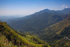 Άποψη από την αιχμή του μικρού Adam, Σρι Λάνκα στοκ φωτογραφία με δικαίωμα ελεύθερης χρήσης