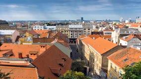 Άποψη από την ανώτερη πόλη του Ζάγκρεμπ, Κροατία - timelapse απόθεμα βίντεο