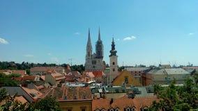 Άποψη από την ανώτερη πόλη Στοκ φωτογραφία με δικαίωμα ελεύθερης χρήσης