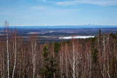 Άποψη από την εθνική οδό πάρκων της Αλάσκας Στοκ εικόνα με δικαίωμα ελεύθερης χρήσης