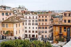 Άποψη από την εκκλησία του dei Monti Trinita ισπανικό Steps Piazza Di Spagna Στοκ φωτογραφίες με δικαίωμα ελεύθερης χρήσης