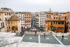 Άποψη από την εκκλησία του dei Monti Trinita ισπανικό Steps Piazza Di Spagna Στοκ εικόνα με δικαίωμα ελεύθερης χρήσης