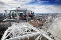 Άποψη από την κάψα ματιών του Λονδίνου από το υψηλότερο σημείο του Λονδίνο UK στοκ φωτογραφία με δικαίωμα ελεύθερης χρήσης