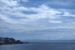 Άποψη από την Κορσική στη Σαρδηνία στοκ εικόνες