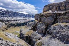 Άποψη από την κορυφή στην κοιλάδα Ordesa, Αραγονία, Ισπανία Στοκ φωτογραφία με δικαίωμα ελεύθερης χρήσης