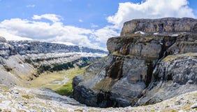 Άποψη από την κορυφή στην κοιλάδα Ordesa, Αραγονία, Ισπανία Στοκ Εικόνες