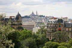 Άποψη από την κορυφή στο Παρίσι Στοκ Φωτογραφίες