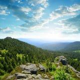 Άποψη από την κορυφή του βουνού Grosser Arber, Γερμανία Στοκ Εικόνες