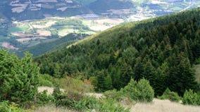 Άποψη από την κορυφή των βουνών Pietralata Marche Ιταλία Στοκ φωτογραφίες με δικαίωμα ελεύθερης χρήσης