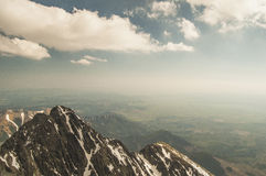 Άποψη από την πανοραμική θέα των βουνών! Στοκ Εικόνες