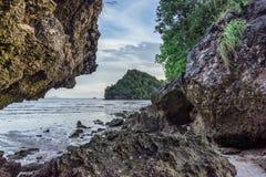 Άποψη από την παραλία του Sam Naui σε Ko Khao στο AO Nang, επαρχία Krabi Στοκ Φωτογραφίες