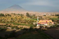 Άποψη από την περιοχή Sachaca σε Arequipa Στοκ φωτογραφία με δικαίωμα ελεύθερης χρήσης