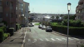 Άποψη από την πόλη στη μαρίνα φιλμ μικρού μήκους
