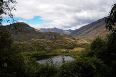 Άποψη από την πλατφόρμα εξέτασης λιμνών διαμαντιών, Νέα Ζηλανδία Στοκ Φωτογραφίες