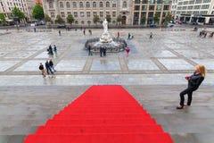 Άποψη από τη αίθουσα συναυλιών Βερολίνο στο Gendarmenmarkt στο Βερολίνο, Γερμανία Στοκ Φωτογραφίες
