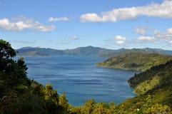 Άποψη από τη βασίλισσα Charlotte Track, Νέα Ζηλανδία Στοκ εικόνες με δικαίωμα ελεύθερης χρήσης