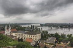 Άποψη από τη βασιλική Esztergom Στοκ Εικόνες