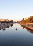 Άποψη από τη γέφυρα ποταμών στα ΝΑΚ Στοκ εικόνες με δικαίωμα ελεύθερης χρήσης