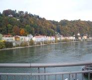 Άποψη από τη γέφυρα του Πάσσαου στοκ εικόνες με δικαίωμα ελεύθερης χρήσης