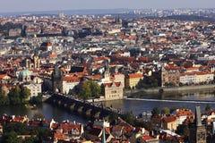Άποψη από τη γέφυρα του Charles, Πράγα, Δημοκρατία της Τσεχίας Στοκ Φωτογραφία