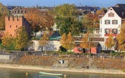 Άποψη από τη γέφυρα Wettsteinbrucke στη Βασιλεία Στοκ φωτογραφία με δικαίωμα ελεύθερης χρήσης
