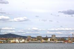 Άποψη από τη θάλασσα στο Όσλο και το φιορδ του Όσλο Νορβηγία Στοκ Εικόνες