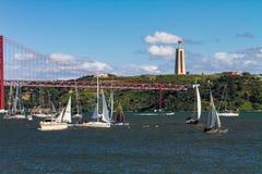 άποψη από τη Λισσαβώνα Στοκ Εικόνες