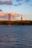άποψη από τη Λισσαβώνα Στοκ εικόνα με δικαίωμα ελεύθερης χρήσης