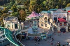 Άποψη από τη ρόδα Ferris της Ευρώπης στο πάρκο Prater Στοκ Φωτογραφία
