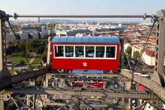 Άποψη από τη ρόδα Ferris της Ευρώπης στο πάρκο Prater Στοκ Φωτογραφίες