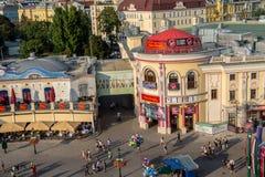Άποψη από τη ρόδα Ferris της Ευρώπης στο πάρκο Prater Στοκ φωτογραφία με δικαίωμα ελεύθερης χρήσης