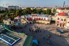 Άποψη από τη ρόδα Ferris της Ευρώπης στο πάρκο Prater Στοκ εικόνες με δικαίωμα ελεύθερης χρήσης