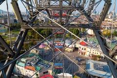Άποψη από τη ρόδα Ferris της Ευρώπης στο πάρκο Prater Στοκ Εικόνες