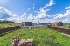 Άποψη από τη στέγη στον τομέα στοκ φωτογραφίες με δικαίωμα ελεύθερης χρήσης