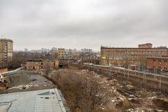 Άποψη από τη στέγη του μηχανοποιημένου αρτοποιείου αριθ. 9 στη Μόσχα, Ρωσία Στοκ φωτογραφίες με δικαίωμα ελεύθερης χρήσης