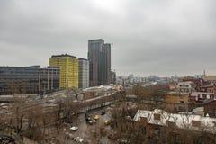 Άποψη από τη στέγη του μηχανοποιημένου αρτοποιείου αριθ. 9 στη Μόσχα, Ρωσία Στοκ Φωτογραφίες
