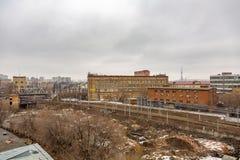 Άποψη από τη στέγη του μηχανοποιημένου αρτοποιείου αριθ. 9 στη Μόσχα, Ρωσία Στοκ Εικόνες