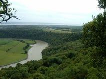 Άποψη από τη φωλιά αετών Wye ποταμών και Wye της κοιλάδας Στοκ φωτογραφία με δικαίωμα ελεύθερης χρήσης