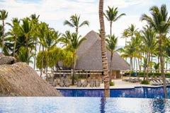 Άποψη από τον ανοικτό φραγμό στο ξενοδοχείο Barcelo, Punta Cana, 02 05 17 Στοκ εικόνες με δικαίωμα ελεύθερης χρήσης
