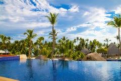 Άποψη από τον ανοικτό φραγμό στο ξενοδοχείο Barcelo, Punta Cana, 02 05 17 Στοκ Φωτογραφίες