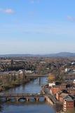 Άποψη από τον καθεδρικό ναό του Worcester Στοκ Εικόνα