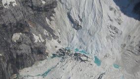 Άποψη από τον παγετώνα Juneau Αλάσκα Mendenhall ελικοπτέρων Στοκ Εικόνες
