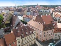 Άποψη από τον πύργο στα σπίτια πόλεων και τη στέγη Cheb Στοκ φωτογραφία με δικαίωμα ελεύθερης χρήσης